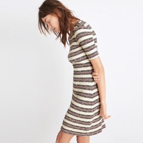 7eaf3a01ce42 Madewell Dresses   Skirts - Madewell Mini Stripe Knit Dress NWT